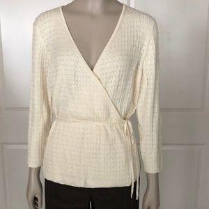 Ann Taylor Silk Cotton Wrap Sweater